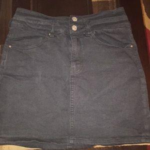 Black Jean Skirt.
